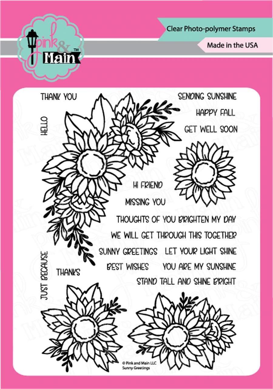Pink & Main - Sunny Greetings Stamp Set