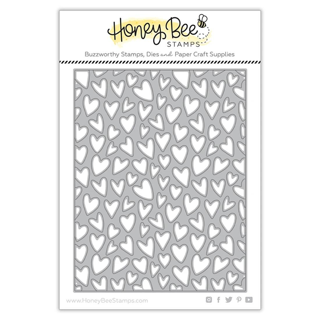 Honey Bee Stamps - Whimsical Hearts A2 Cover Plate