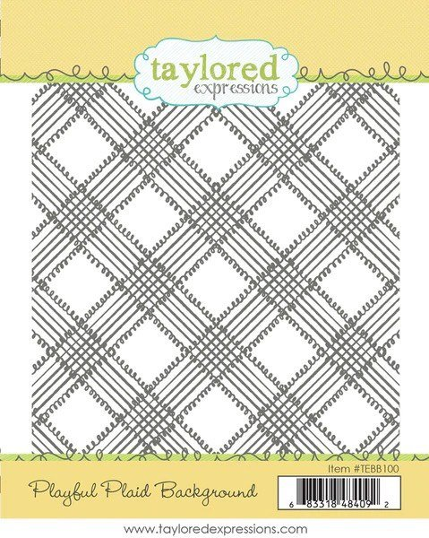 Taylored Expressions - Playful Plaid BG Stamp