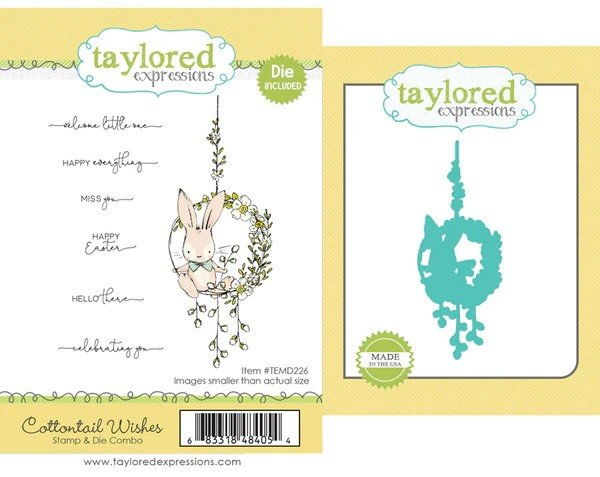 Taylored Expressions - Cottontail Wishes Stamp & Die Combo