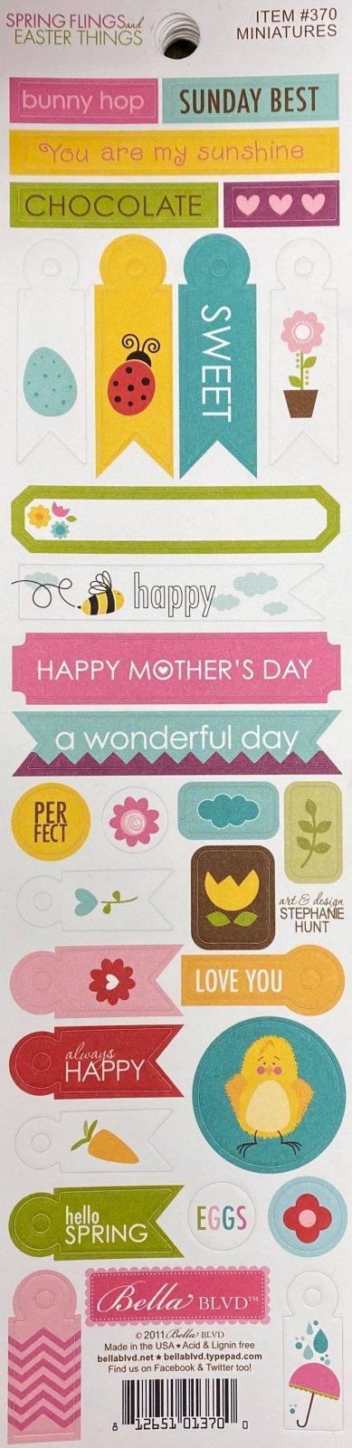 Bella Blvd - Spring Flings & Easter Things Miniature Stickers