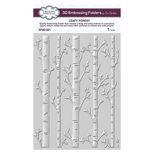 Creative Expressions - Leafy Forest 3D Embossing Folder