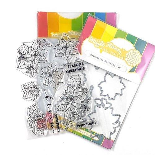 Waffle Flower - Poinsettia Stamp/Die Set