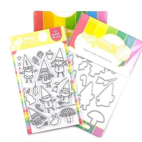 Waffle Flower - Happy Gnomes Stamp/Die Set