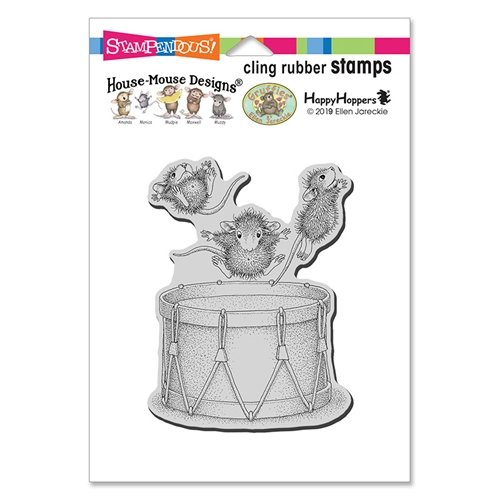 House Mouse - Little Drummers Cling Stamp