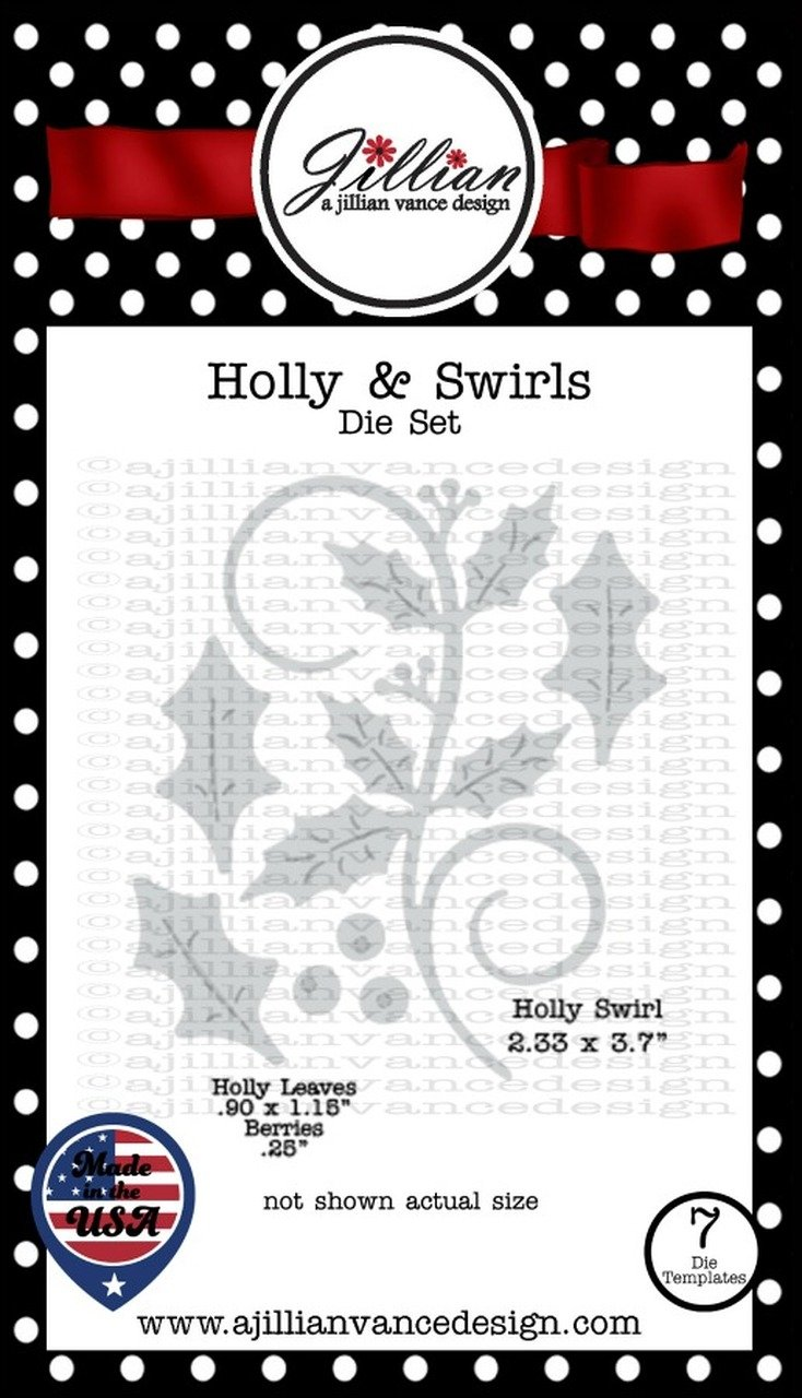 Jillian Vance - Holly & Swirls Die Set