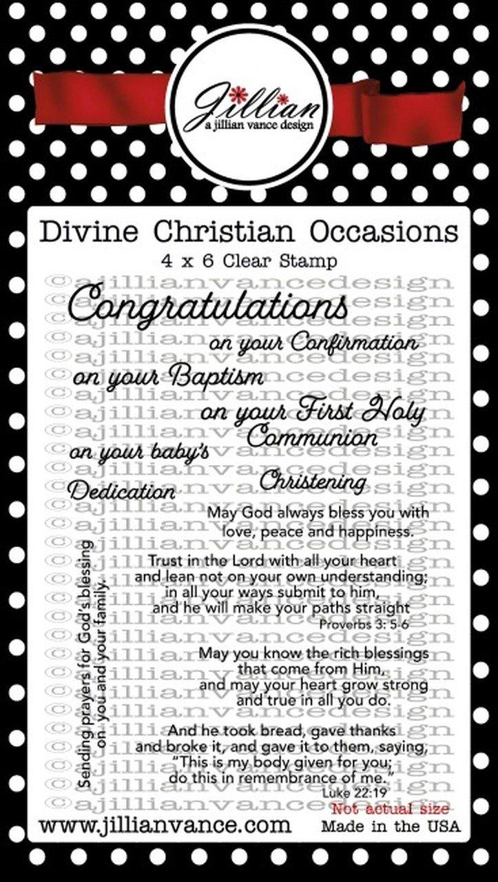 Jillian Vance - Divine Christian Occasions Stamp Set
