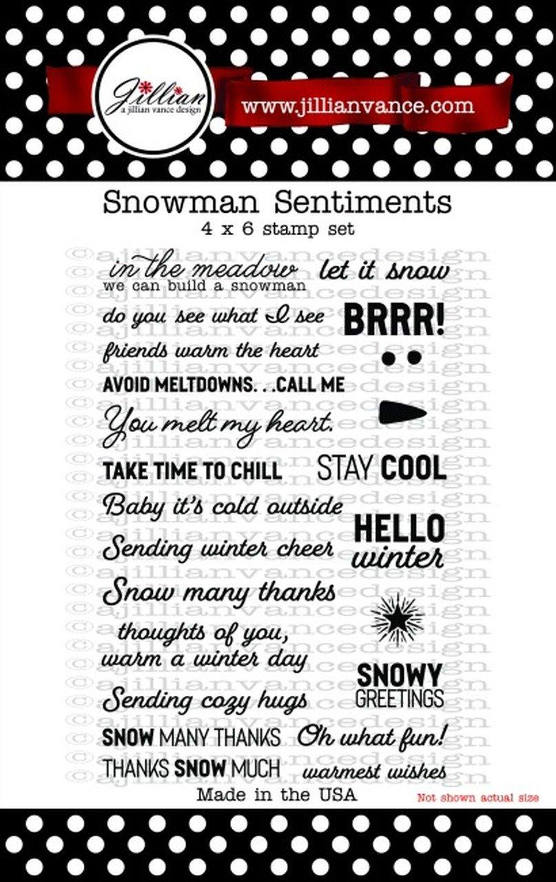 Jillian Vance - Snowman Sentiments Stamp Set