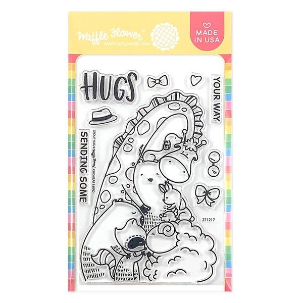 Waffle Flower - Group Hug Stamp & Die Set