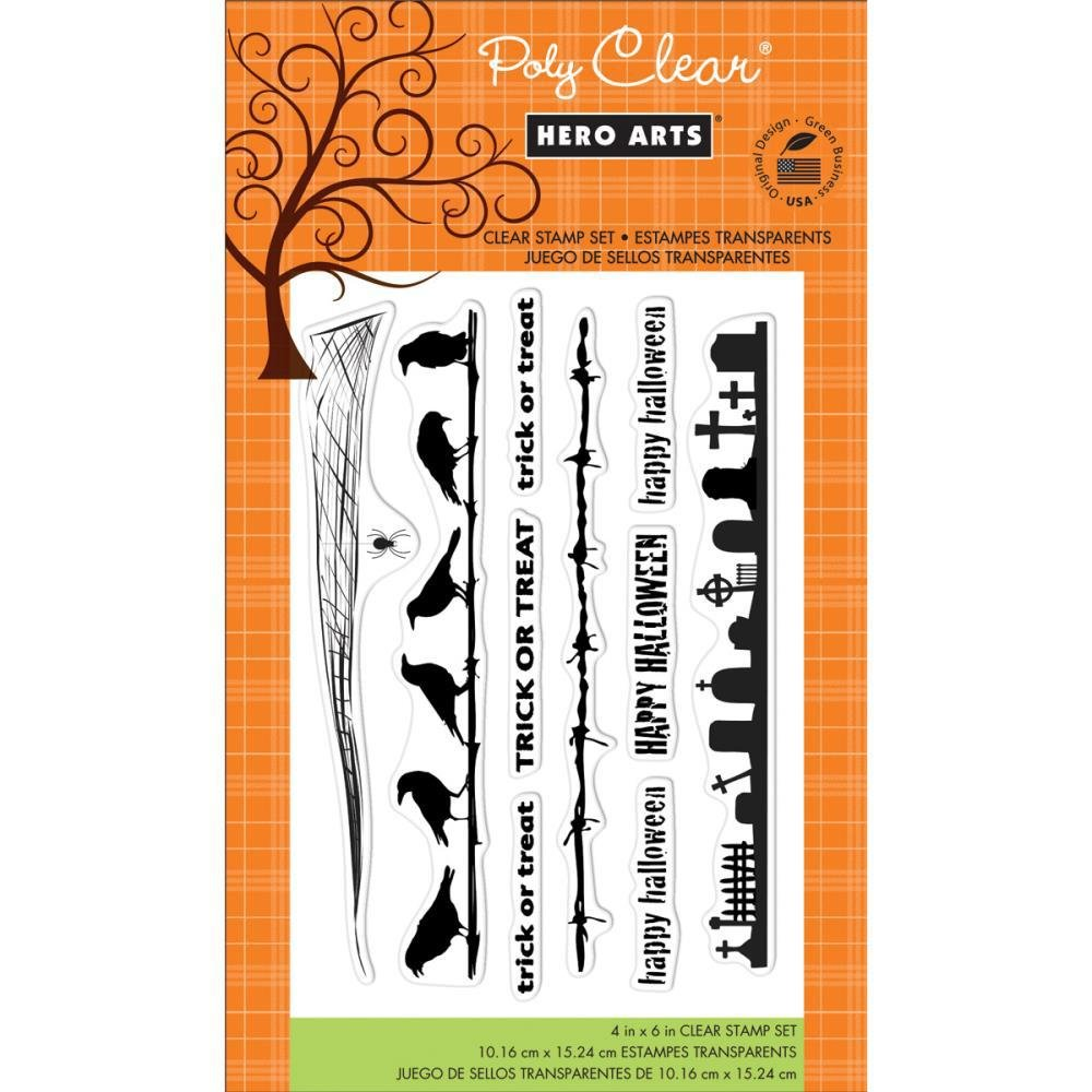 Hero Arts - Halloween Borders Stamp Set