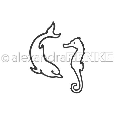 Alexandra Renke - Dolphin and Seahorse Die Set