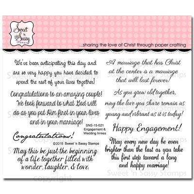 Sweet 'n Sassy - Engagement & Weddings Innies Stamp Set