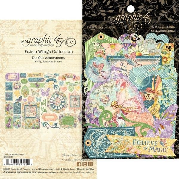 Graphic 45 - Fairie Wings Die-cut Assortment