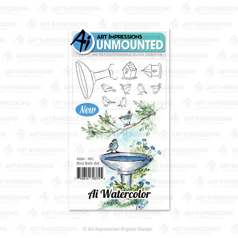 AI - WC Bird Bath Stamp Set