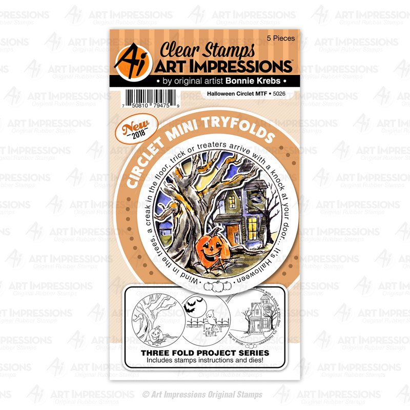 AI - Halloween Circlet Tryfold Stamp & Die Combo Set