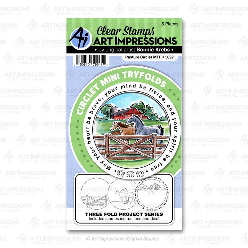 AI - Pasture Circlet Tryfold Stamp & Die Combo Set