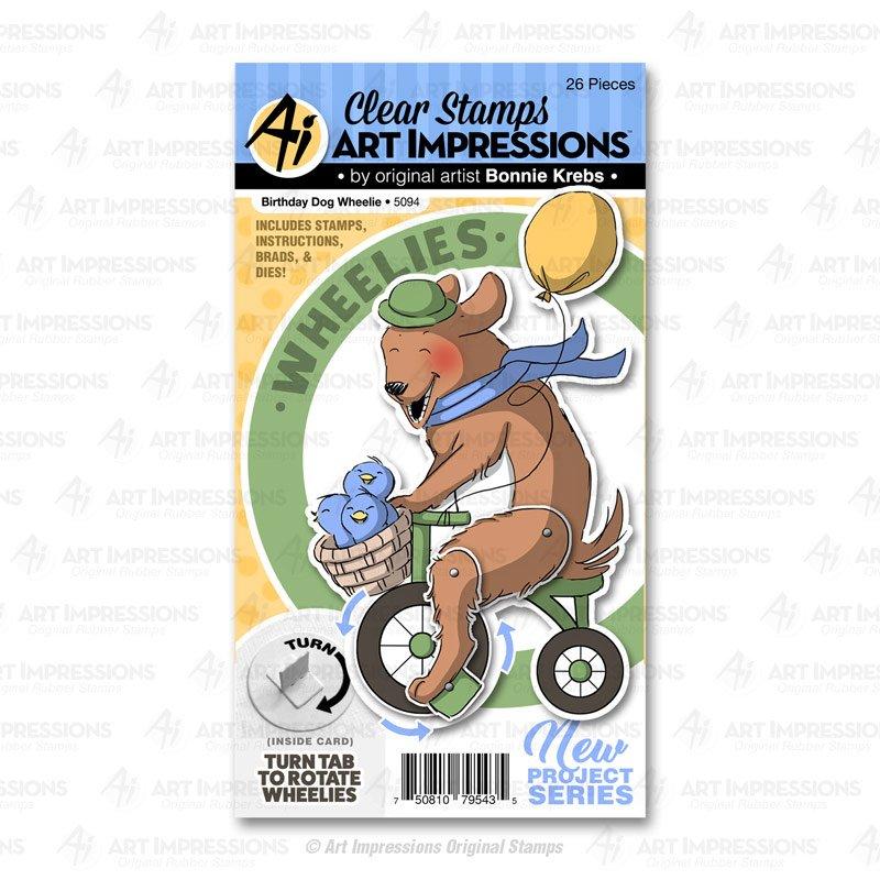 AI Birthday Wheelie Stamp/Die Set
