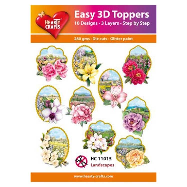 Hearty Crafts Easy 3D Toppers - Landscapes