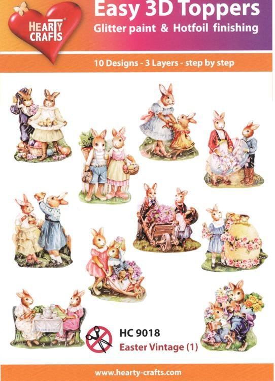 Hearty Crafts Easy 3D Toppers - Easter Vintage (1)