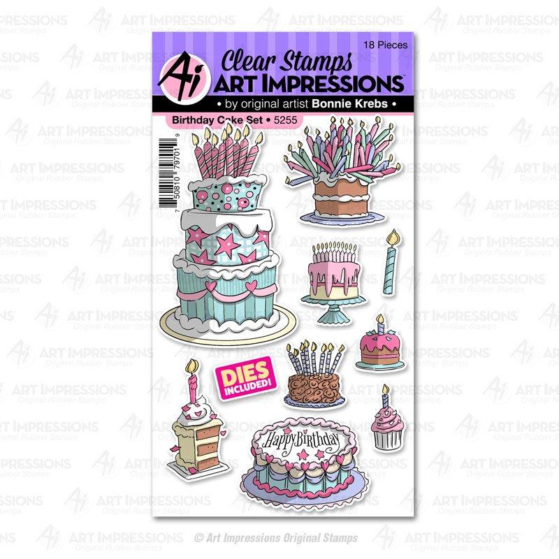 AI - Birthday Cake Stamp & Die Combo Set