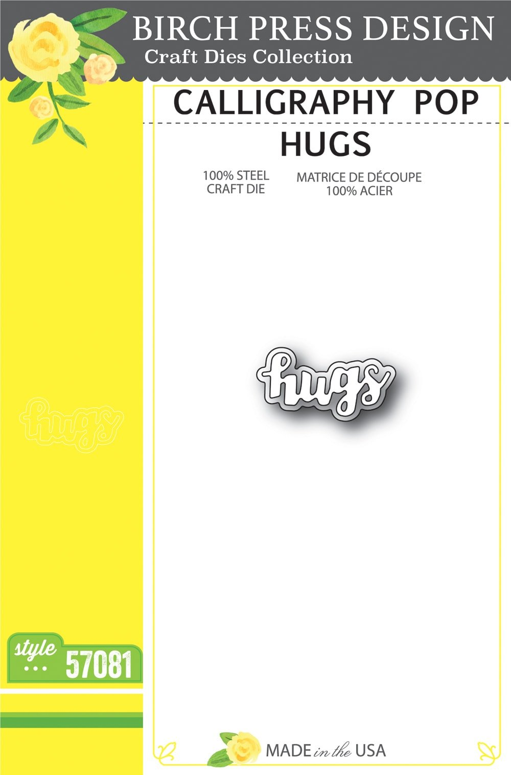 Birch Press Design - Calligraphy Pop Hugs Die