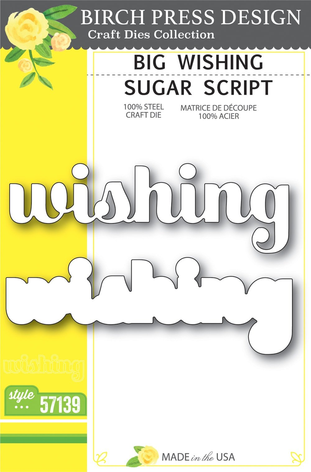 Birch Press Design - Big Wishing Sugar Script Die