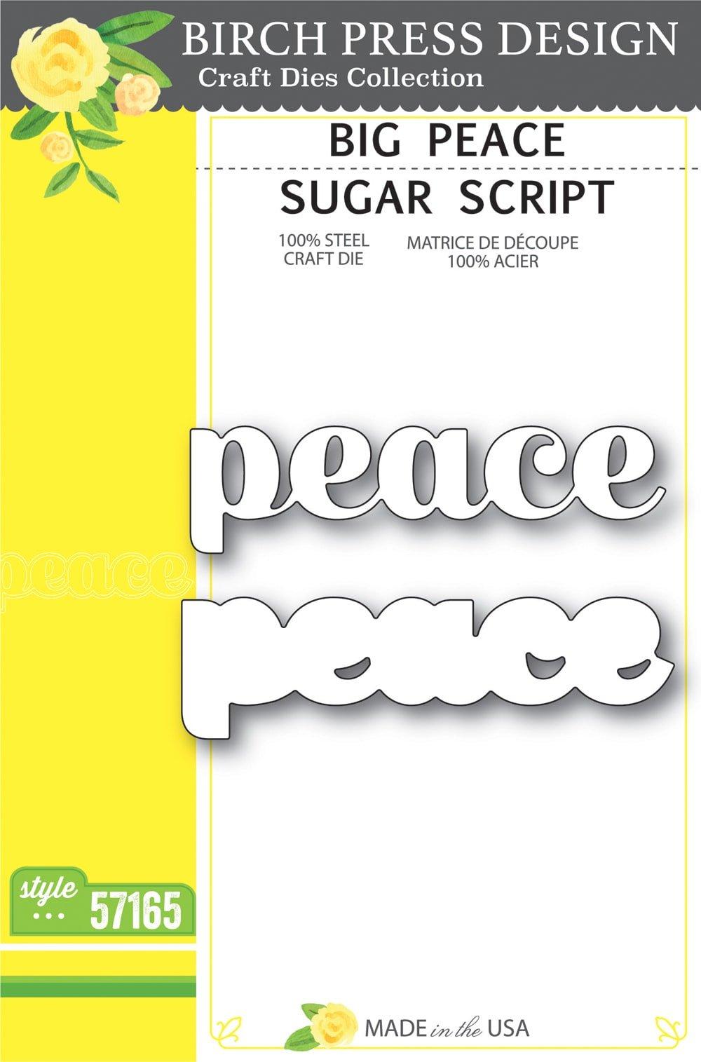 Birch Press Design - Big Peace Sugar Script Die