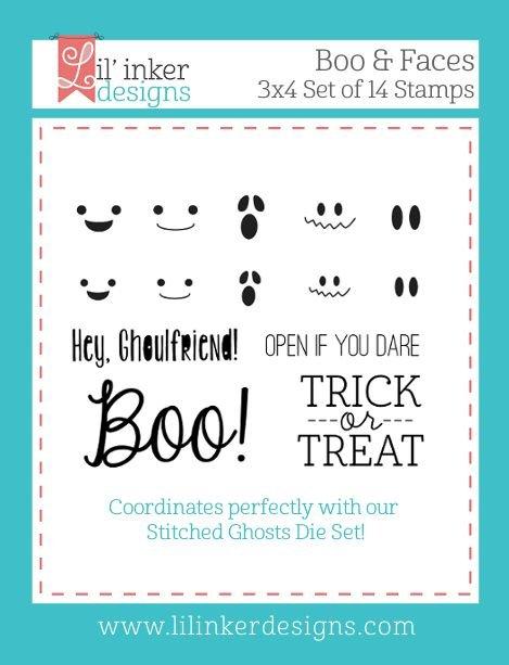 Lil' Inker Designs - Boo & Faces Stamp Set
