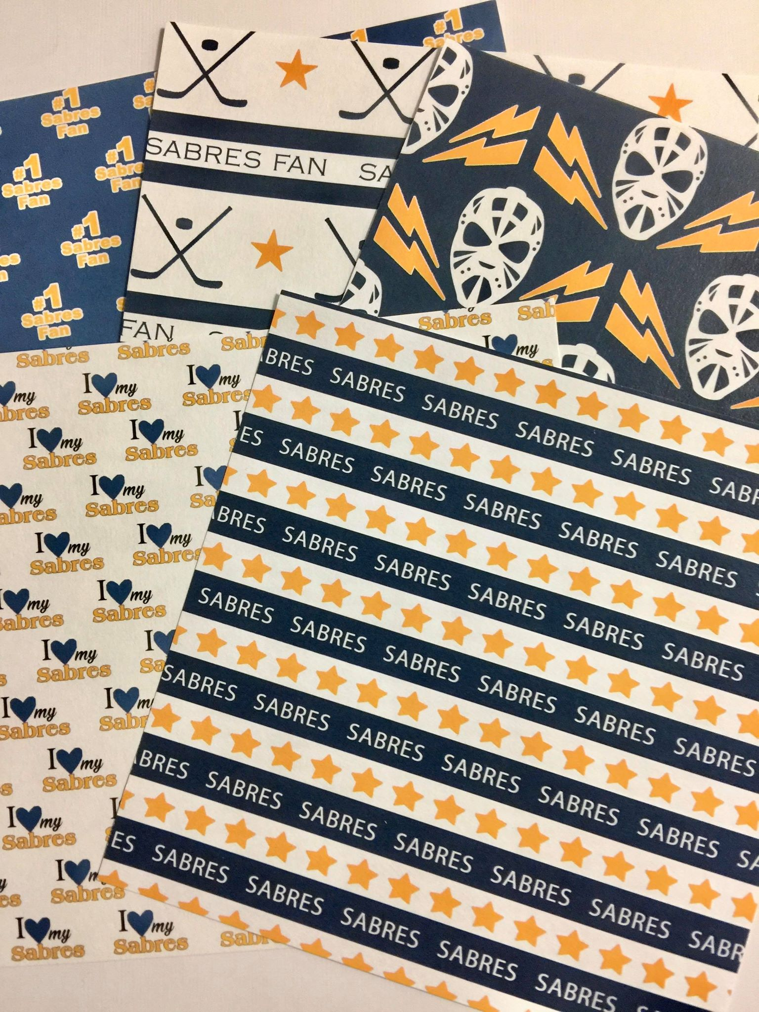6x6 Buffalo Sabres Paper Pack!