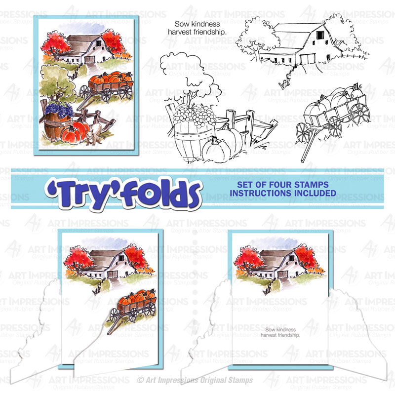 AI - Harvest 'Try-Folds' Stamp Set