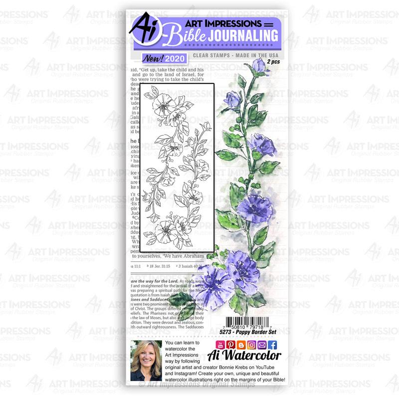 AI - Poppy Border Stamp Set