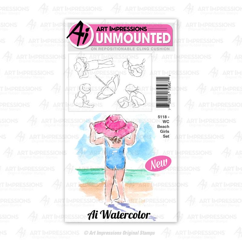 AI - WC Beach Girls Stamp Set