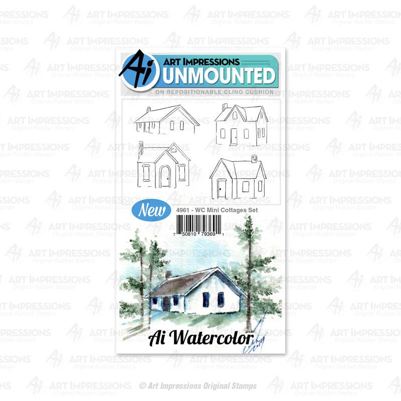 AI - WC Mini Cottages Stamp Set