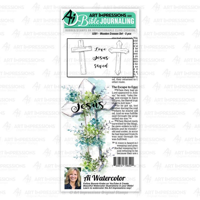 AI - Wooden Crosses Stamp Set