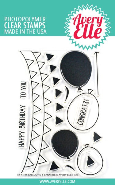 Avery Elle - Balloons & Banners Stamp Set