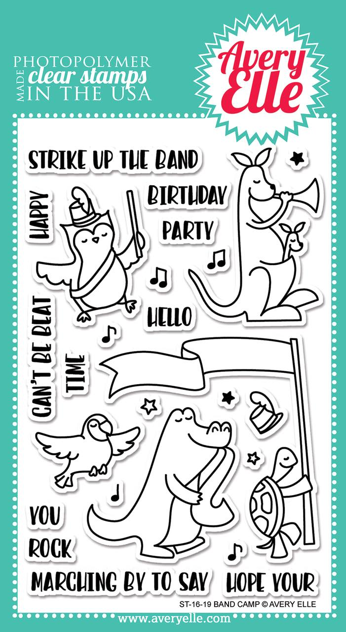 Avery Elle - Band Camp Stamp & Die Combo