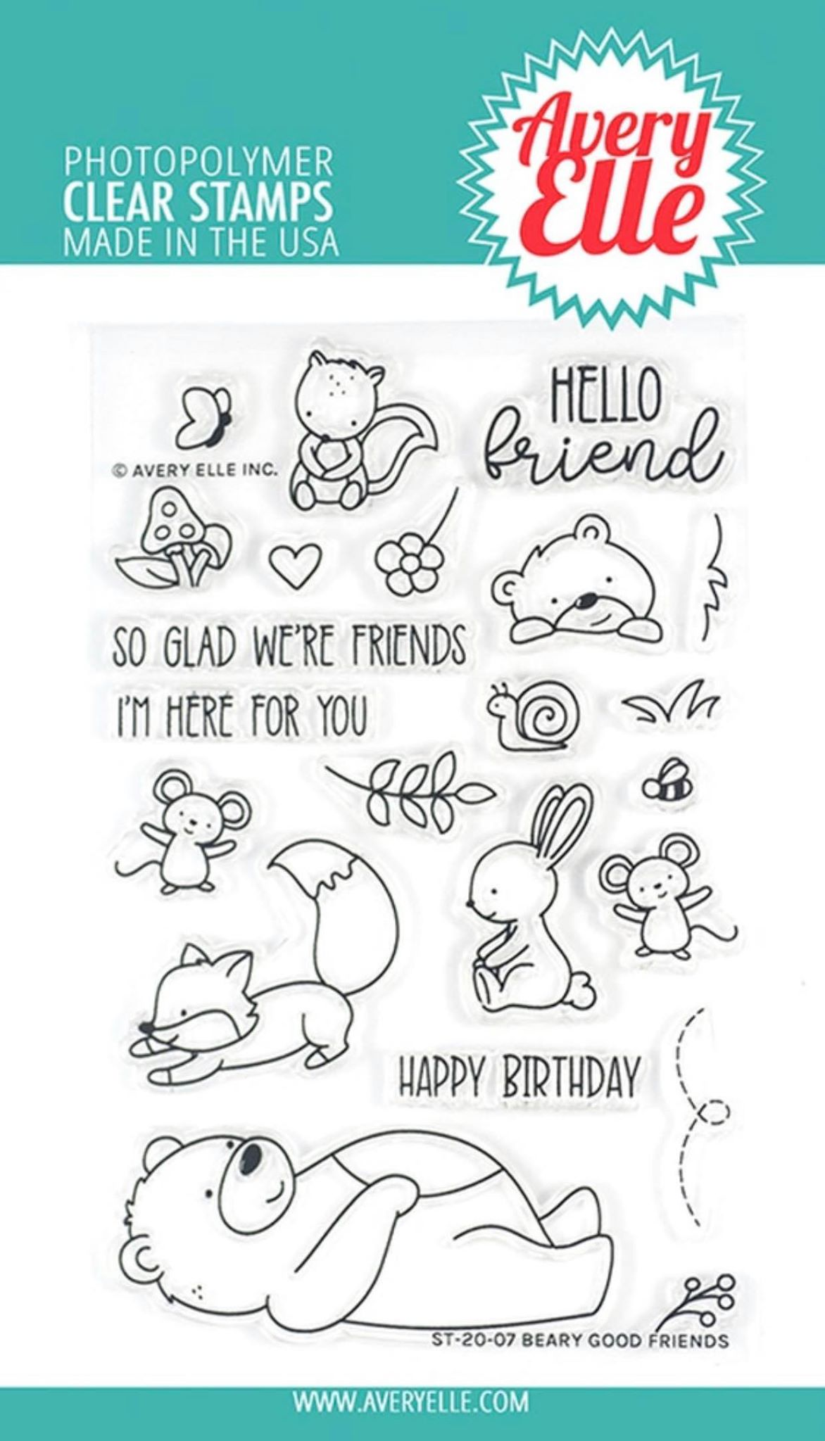 Avery Elle - Beary Good Friends Stamp Set