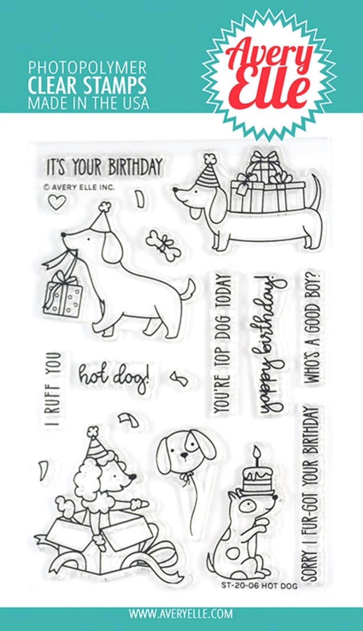 Avery Elle - Hot Dog Stamp Set