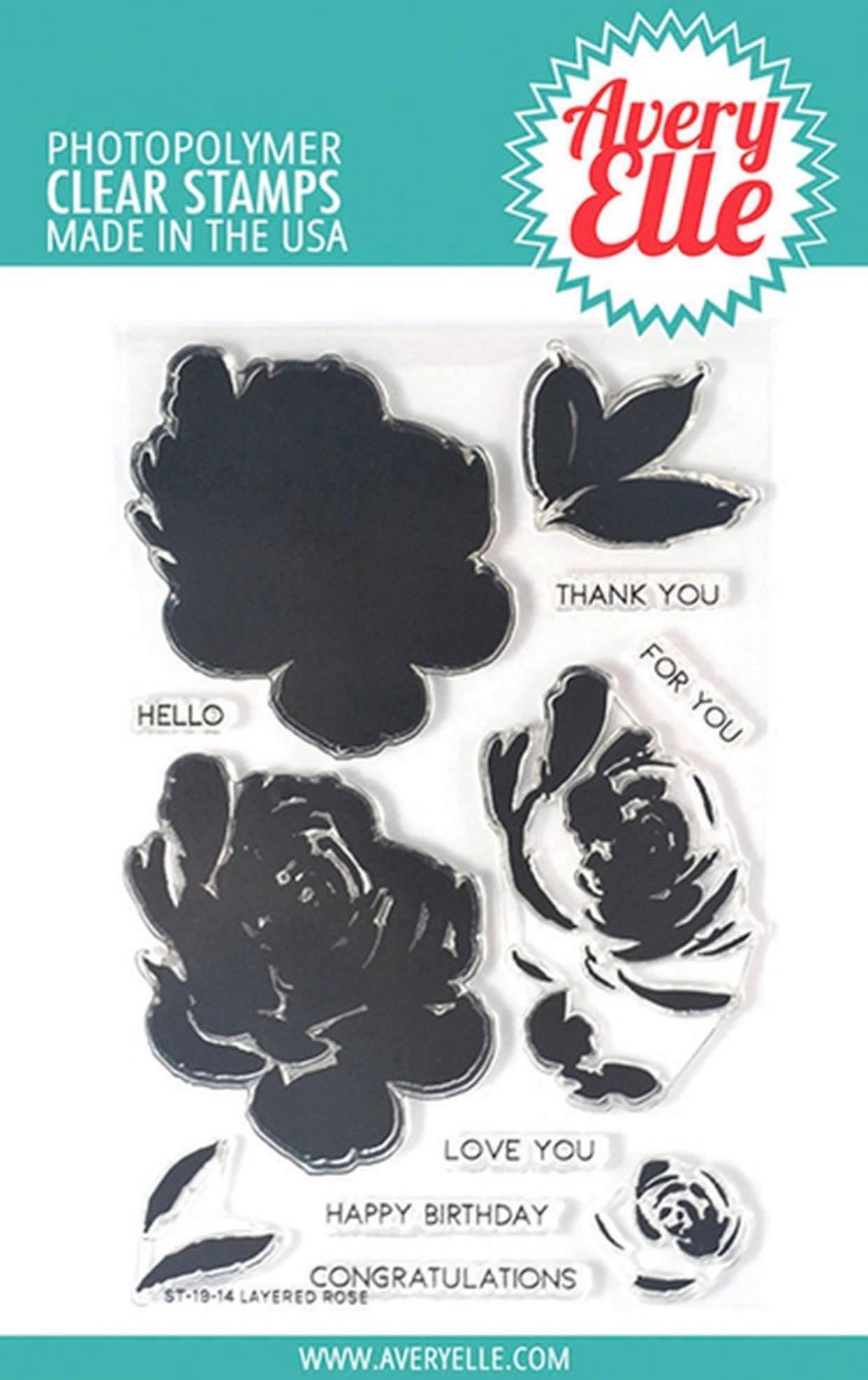 Avery Elle - Layered Rose Stamp Set