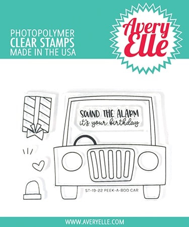 Avery Elle - Peek-A-Boo Car Stamp Set