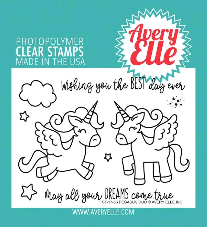 Avery Elle - Pegasus Duo Stamp & Die Combo