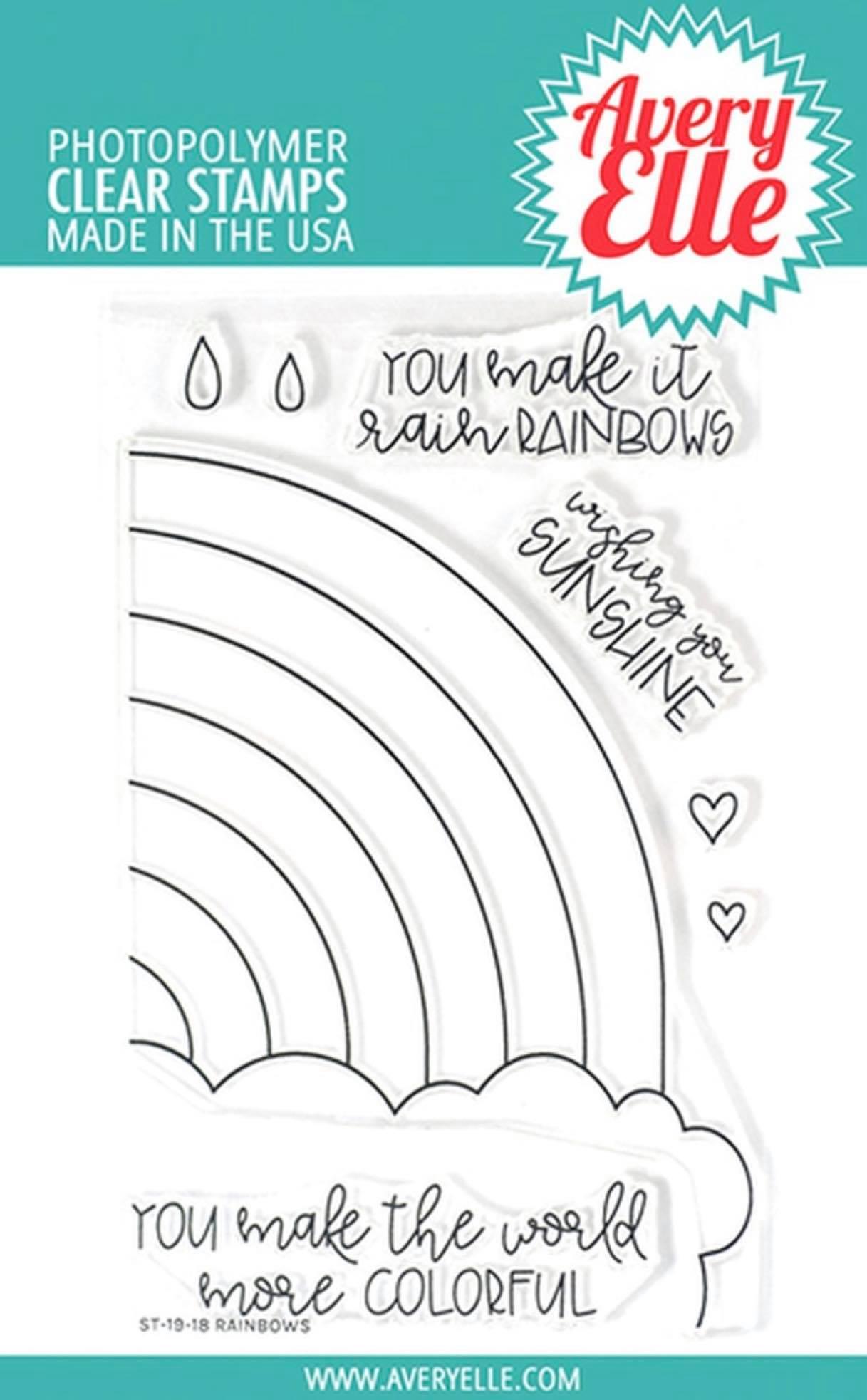 Avery Elle - Rainbows Stamp Set