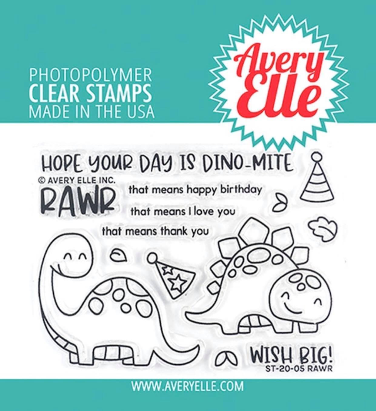 Avery Elle - Rawr Stamp Set