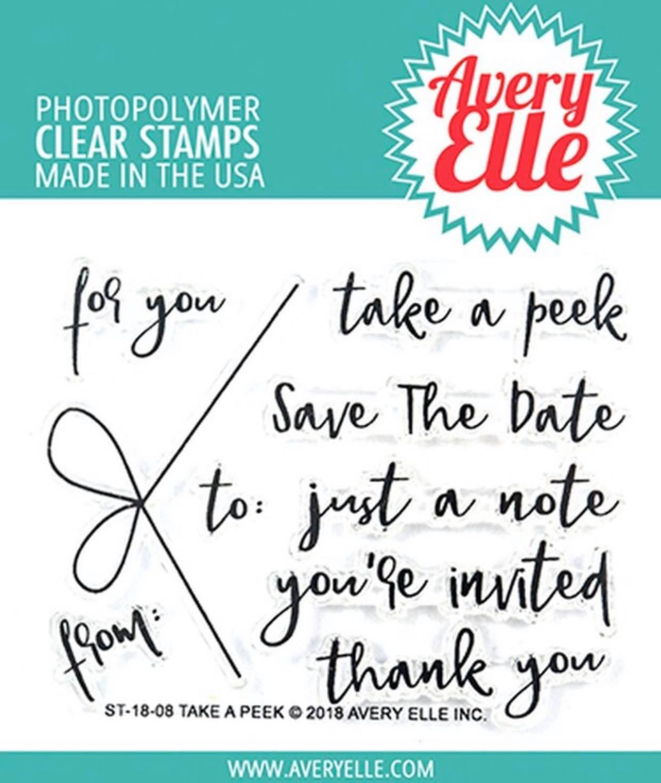 Avery Elle - Take A Peek Clear Stamp Set