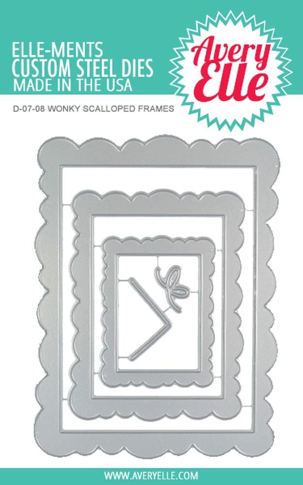 Avery Elle - Wonky Scalloped Frame Die