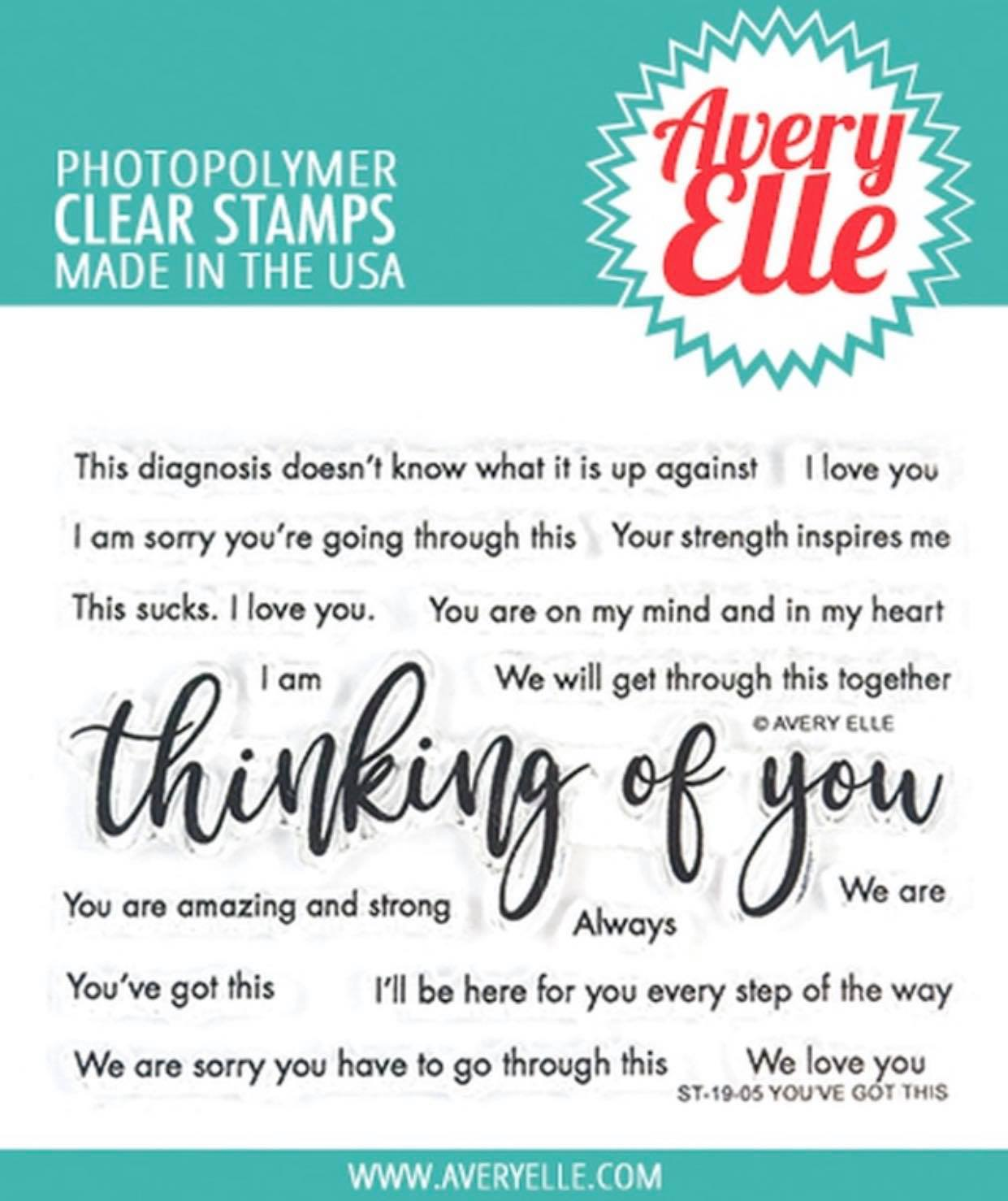 Avery Elle - You've Got This Stamp Set
