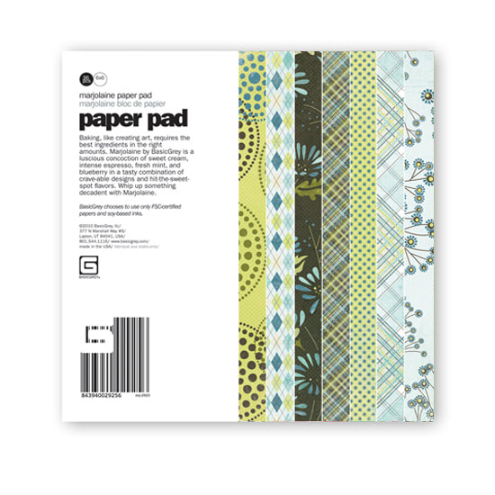 BasicGrey - Marjolaine Collection - 6x6 Paper Pad