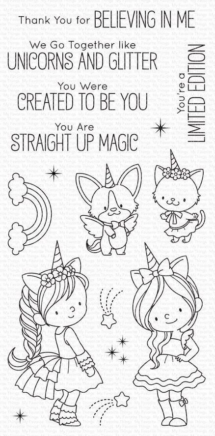 MFT - BB Unicorns and Glitter Stamp Set