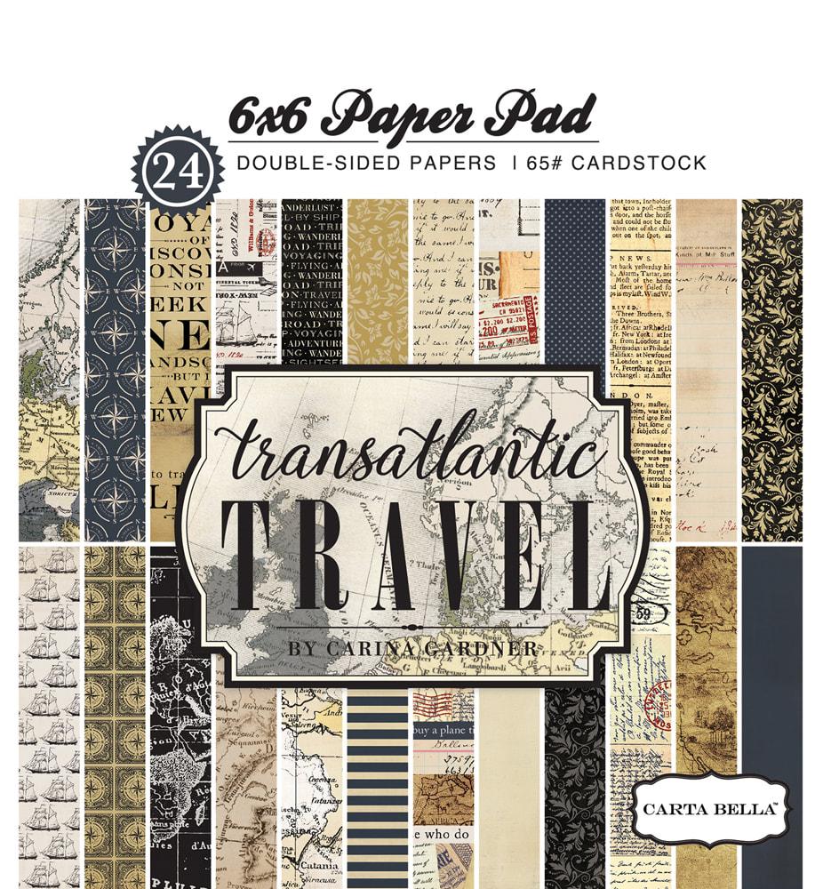 Carta Bella - Transatlantic Travel 6x6 Paper Pad