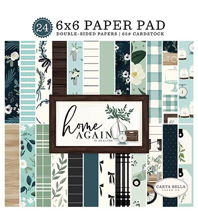 Carta Bella Paper - Home Again Collection 6x6 Paper Pad